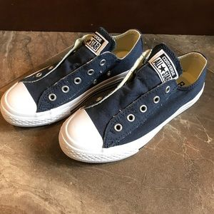 NEW Converse All Star Slip On Kids Navy Blue 13.5